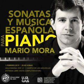 ESTA TARDE LA UJA CONTARÁ CON LA PRESENCIA DEL PIANISTA INTERNACIONAL 'MARIO MORA' CON 'SONATAS Y MÚSICA ESPAÑOLA'