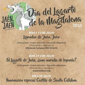 El Castillo de Santa Catalina en Jaén se iluminará de rojo hoy conmemorando el Día del Lagarto de la Magdalena
