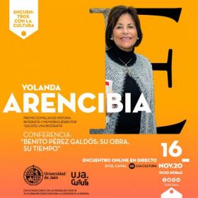ESTA TARDE EN STREAMING 'ENCUENTROS CON LA CULTURA' DE LA UJA, CON YOLANDA ARENCIBIA